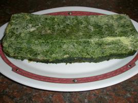 Pastel de espinacas con jamón